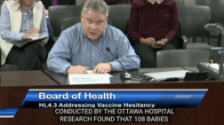Are you aware? A concerned citizen tries to educate the Toronto's Board of Health on vaccines